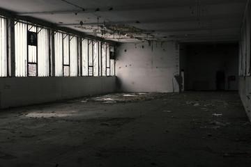 old abandoned warehouse