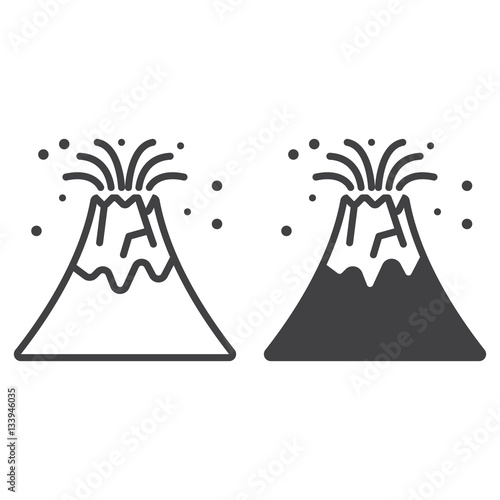 Volcano eruption line icon outline and filled vector sign linear volcano eruption line icon outline and filled vector sign linear and full pictogram isolated pronofoot35fo Images