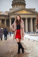 Beauty Model, Street fashion, Winter Dress