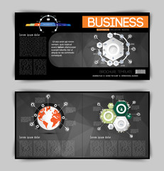 Modern business brochure, vector