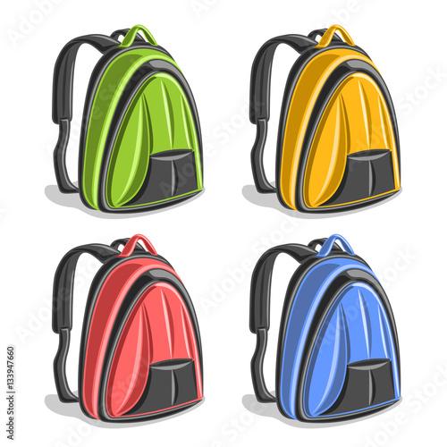 e87555581483 Vector set icons sports Backpacks