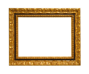 vintage frame on white background isolated