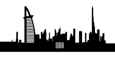 Isolated silhouette of Dubai