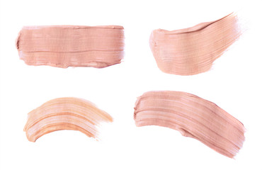 Set of foundation swatches