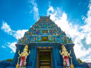 Beautiful Sunset View of Nainativu Nagapoosani Amman Hindu Tamil Kovil Temple , Jaffna, Sri Lanka