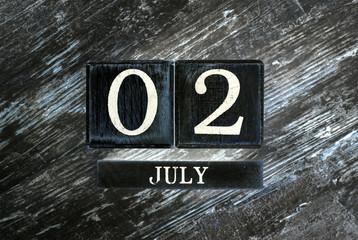 Temmuz 2th Takvim