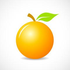 Round orange vector icon