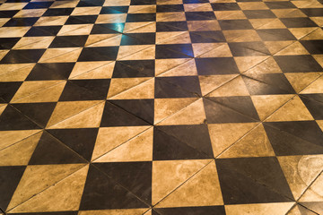 Old aged dirty granite checkerboard caro pattern