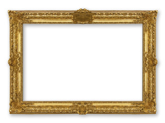 frame gold isolated