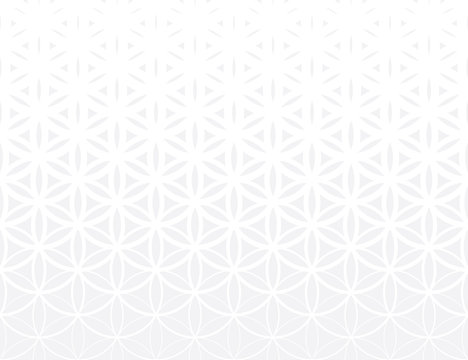 Abstract sacred geometry gray gradient flower of life halftone subtle  pattern