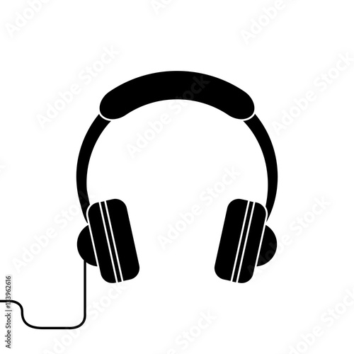 """silhouette headphones music listen mobile vector ..."