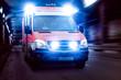Krankenwagen in Unterführung