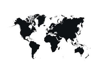 Wall Mural - Political World Map vector Illustration.