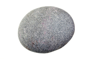 Pebble from beach against a white background