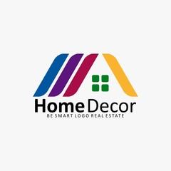 HOME DECOR HOUSE REAL ESTATE ICON LOGO
