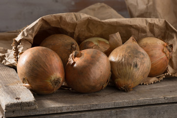 Onions in bag