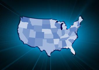 USA State map