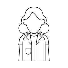 doctor woman stethoscope medical professional outline vector illustration eps 10