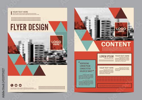 modern retro brochure layout design template annual report flyer