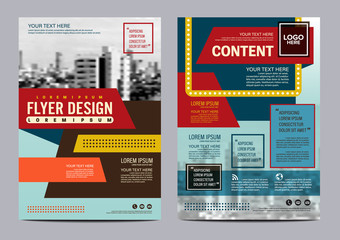 modern retro Brochure Layout design template. Annual Report Flyer Leaflet cover Presentation background. illustration vector in A4 size