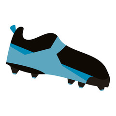 american football boot shoe spiked vector illustration eps 10