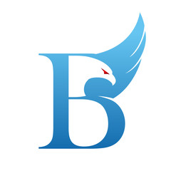 Initial B Eagle Logo