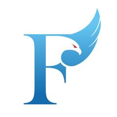 Initial F Eagle Logo