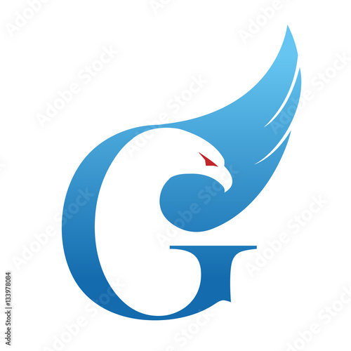 Vector Grey Eagle Fly Business Initial Stock Vector 617782523 ...
