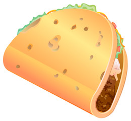 Tortilla Mexican sandwich vector image