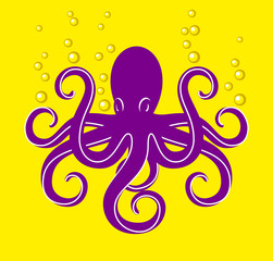 Vector cartoon octopus