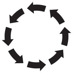 Recycle symbol arrow