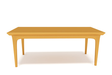 Table made of solid wood, 3d illustration
