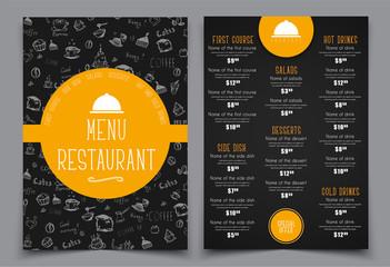Design a menu for a cafe or restaurant.