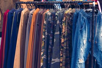 pants on rack