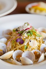 vongole on table