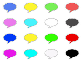 Colorful talk icons