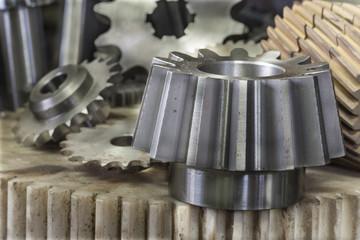 Machine part - Gears, Milling machine, CNC machines, Lathe machi