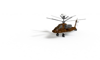 Helicopter model for kids with contrast colors