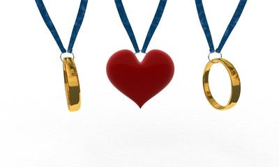 Study showing heart and rings winning