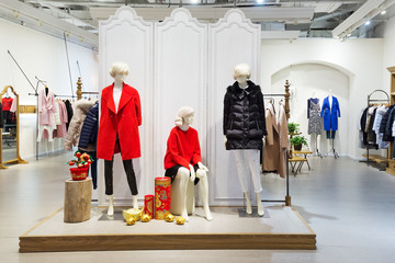 interior of fashion shop