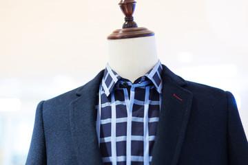 men's business suit on mannequin