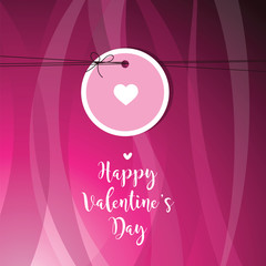 Valentine's card with copy space. Template. Graphic design element. Vector.