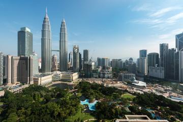 Fotobehang Kuala Lumpur Kuala lumpur city skyline and skyscraper in Kuala lumpur, Malays