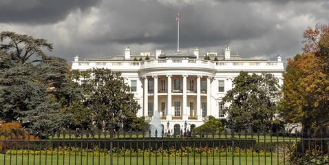 The White House, US president's residence, in Washington DC