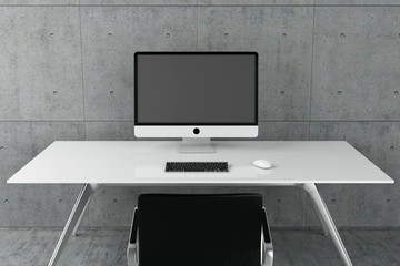 Arbeitsplatz, Arbeiten, Schreibtisch, Office, Ordnung, Bildschirm