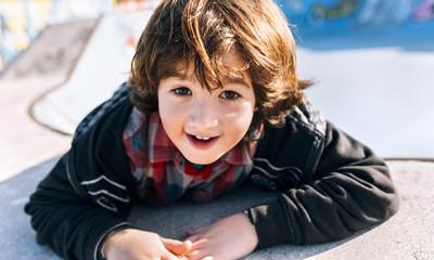 Portrait of happy little boy