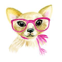 Watercolor puppy dog illustration