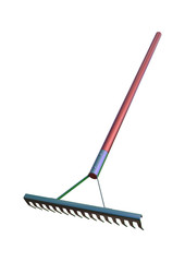 3D Rendering Rake on White