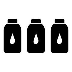 Plastic bottles icon, simple style