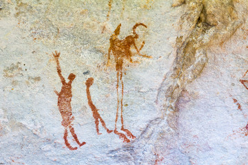 San rock art in Cederberg Mountains South Africa